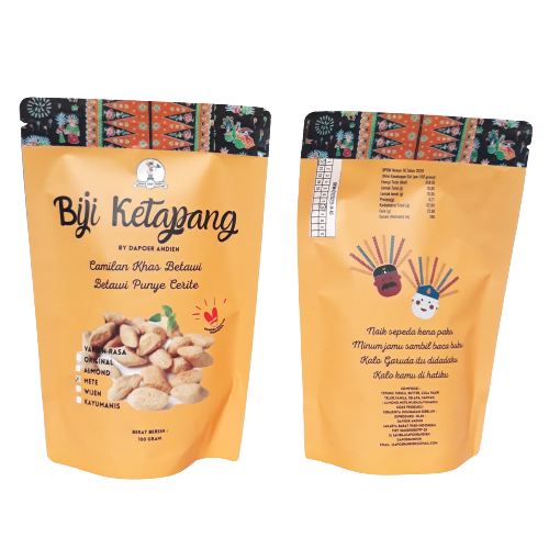 This packaging shows a typical Jakarta snack, formely called Betawi